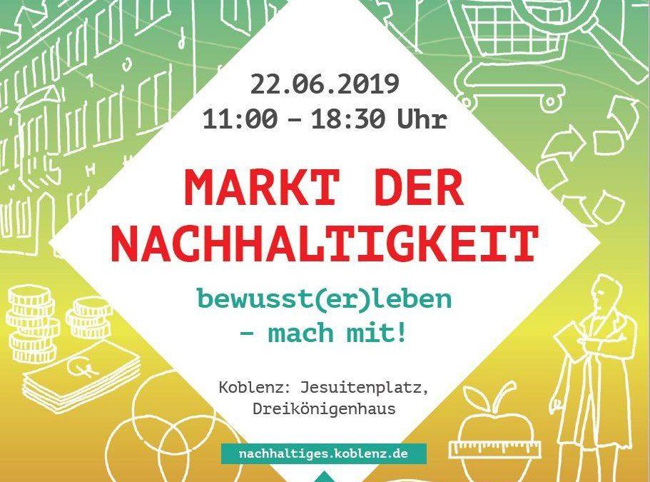 Markt der Nachhaltigkeit am 22.06.2019 von 11.00 bis 17.00 Uhr